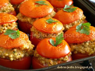 Zapečené plnené paradajky - recepty