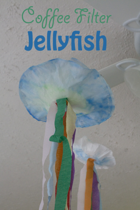 Make Your Own Simple Colorful Coffee Filter Jellyfish Craft