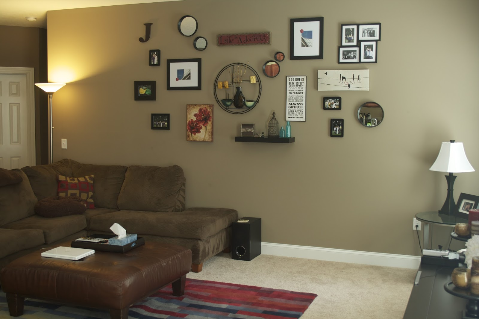 Room Decor: Oregon Transplant: Home Decor: Living Room Wall Collage