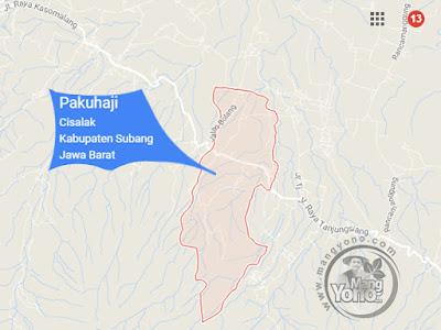 PETA: Desa Pakuhaji Kecamatan Cisalak