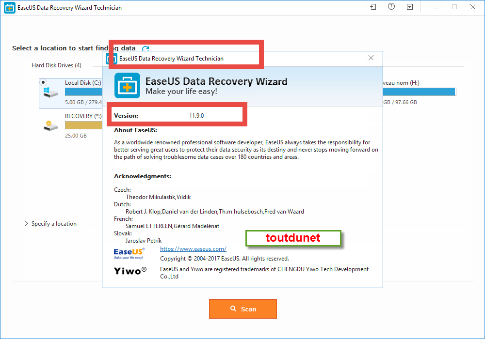 easeus data recovery wizard license code 11.9.0