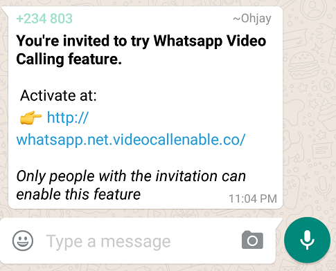 Avoid This Whatsapp Video Scam Url Existence Circulated