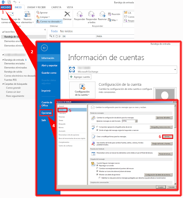 Configuración de firma HTML de Outlook con Outlook 2013