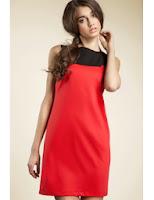 Rochie in doua culori- Rosu