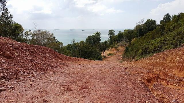 Jalan Masuk Pantai Jabu Barelang Batam