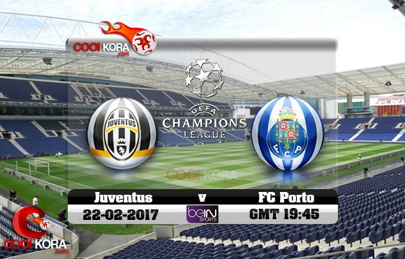 مشاهدة مباراة بورتو ويوفنتوس اليوم 22-2-2017 في دوري أبطال أوروبا