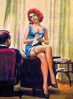 Paul radar,Pin-up art,vintage art,