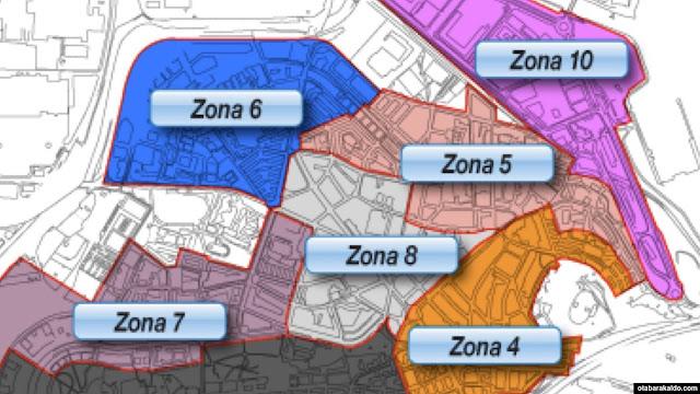 Zonas de OTA en el centro de Barakaldo