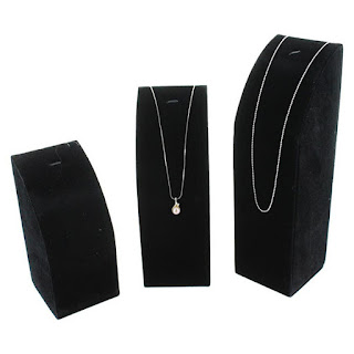 The Set of 3 Necklace Display Stands from Nile Corp are perfect for trade and craft shows