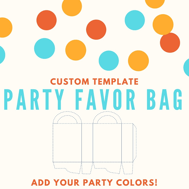 Party favor bag - custom template