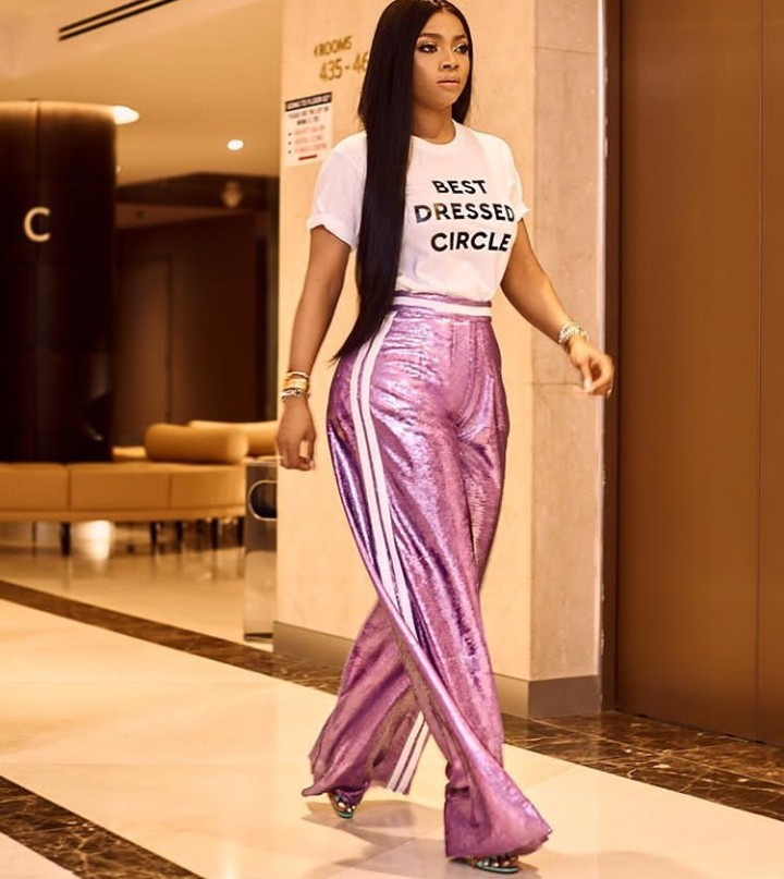 Toke Makinwa Who Recently Became Curvy Is Now Faced With The Curvy Girl Dilemma And Has Shared Her Problem With Her Followers