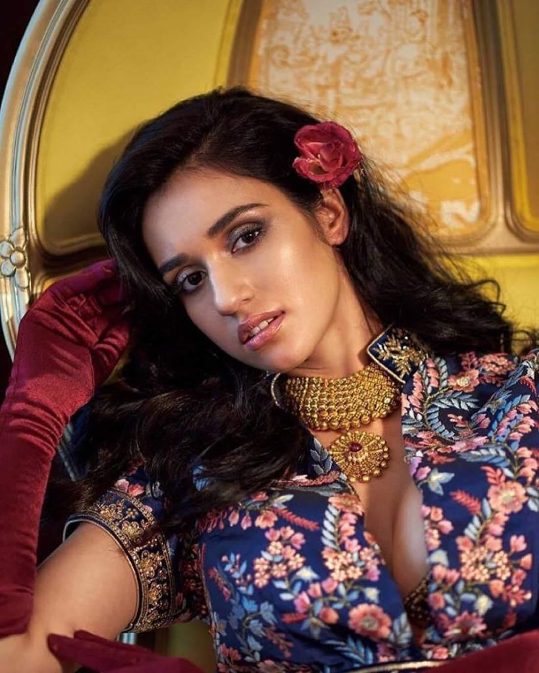 Disha Patani Sizzles in ethnic Designer Choli Saree for HI Blitz December 2016 Bride Special