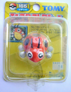 Ledyba Pokemon figure Tomy Monster Collection yellow package series