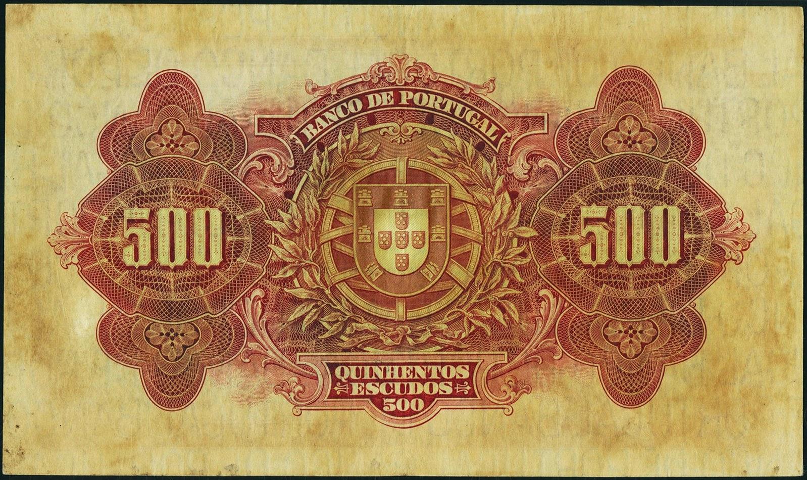 Portugal 500 Escudos banknote pre-euro Portuguese Escudo notes