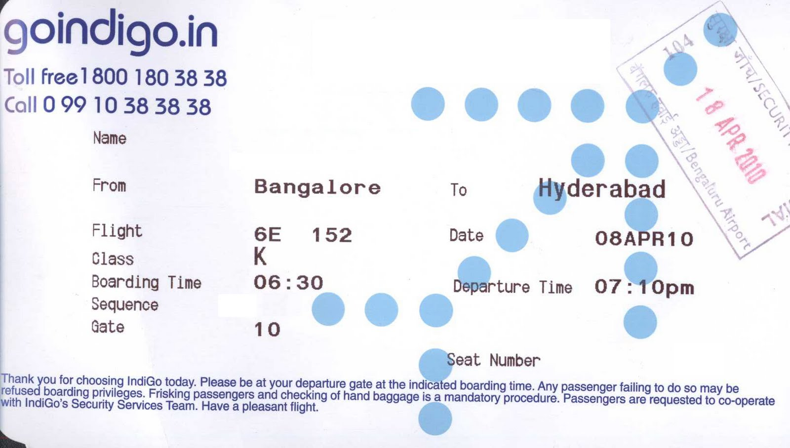 Q E D Wrong Security Stamps On Boarding Passes Bangalore Aviation