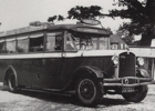 Photograph of a Lewis Line coach taken in 1930. Image from the North Mymms Pictures From the Past book