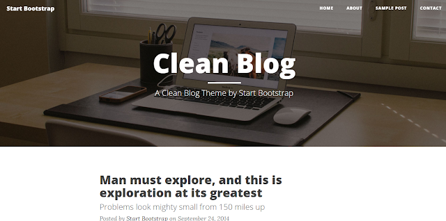 Clean Blog Bootstrap theme.