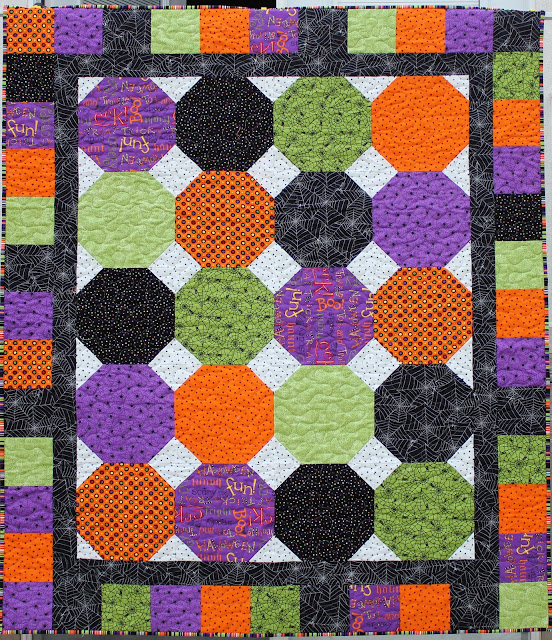 Gumball Quilt Pattern with Halloween Fabrics