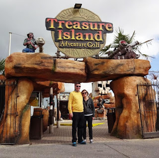 At Treasure Island Adventure Golf course in Southsea