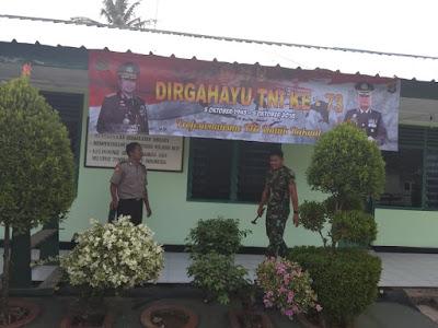 Jelang HUT TNI ke-73, Polres Lampung Timur Dukung Sinergisitas TNI-Polri