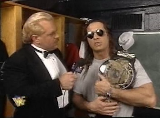 WWF / WWE - In Your House 6 - Doc Hendrix interviews world champion Bret Hart