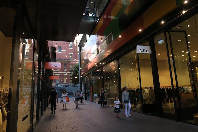 shopping street, melbourne australia