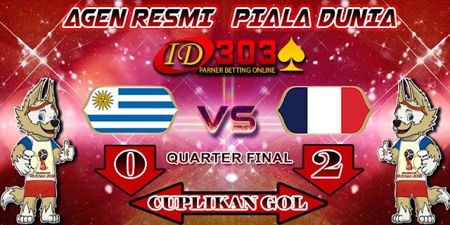 CUPLIKAN GOL  URUGUAY 0 - 2 FRANCE