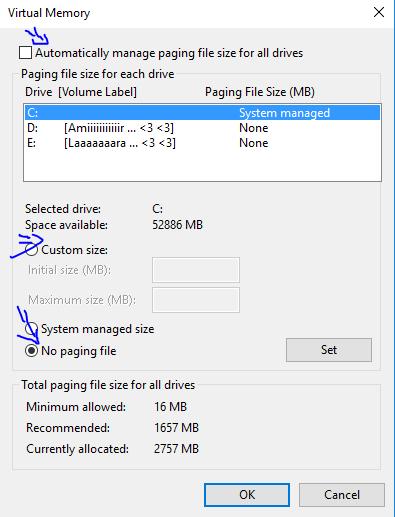 No Page File