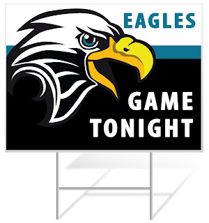 Football Game Tonight Lawn Sign | Lawnsigns.com