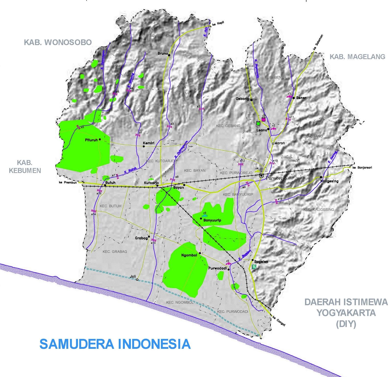 Gambar Peta Infrastruktur Kabupaten Purworejo