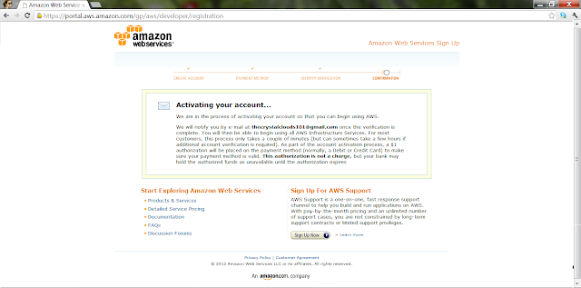 Activate AWS Account
