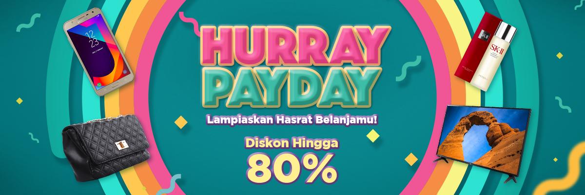 JdID - Promo Hurray PayDay Diskon s.d 80%