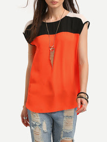 www.shein.com/Black-Orange-Cap-Sleeve-Dip-Hem-T-shirt-p-265060-cat-1738.html?aff_id=2687
