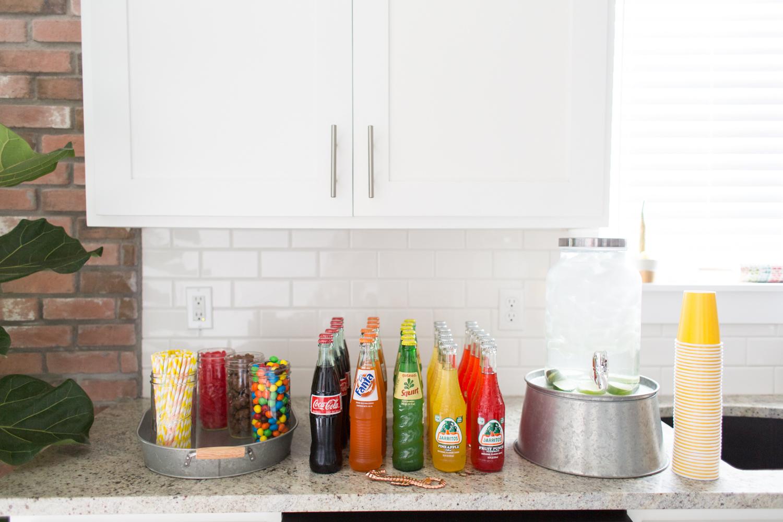 Fiesta Drink Spread in cute Glass Bottles