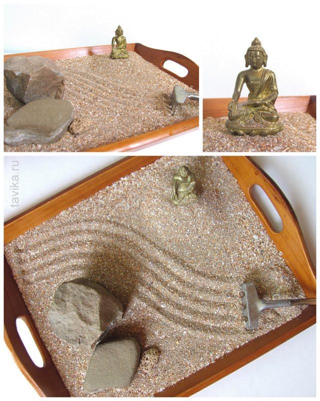 японский садик на подносе