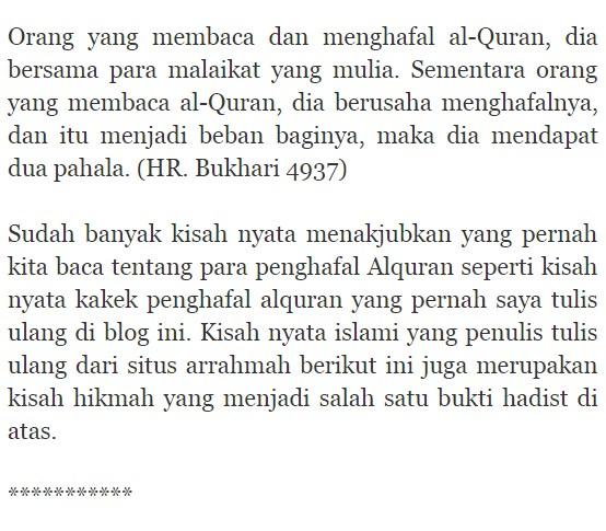 Kisah Nyata Islami : Akhir Kematian Penyanyi dan Penghafal Al Quran