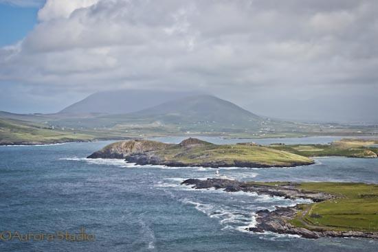 アイルランド西部、ヴァレンティア島からの眺め
