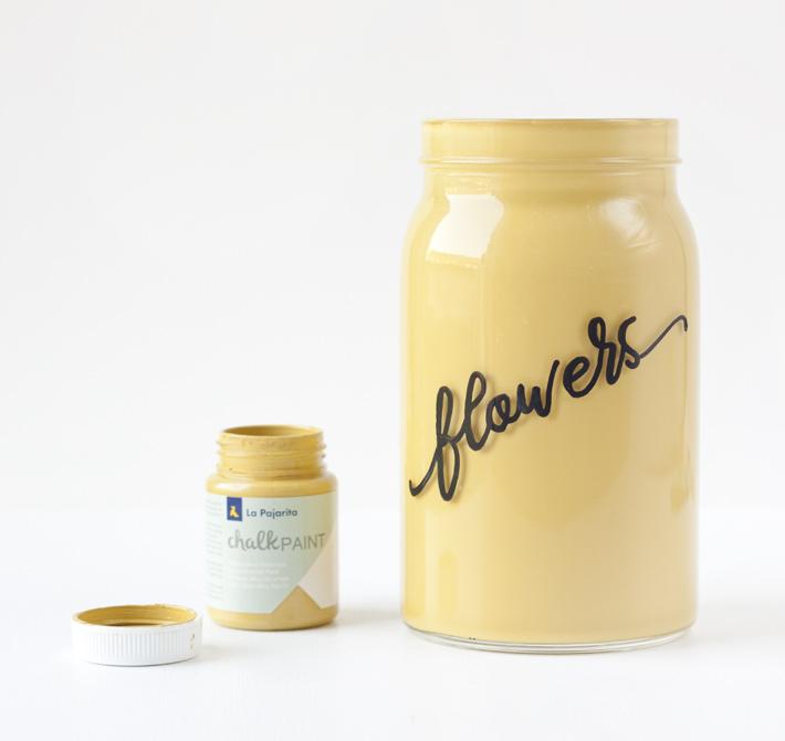 PUNTXET Personaliza un jarrón con lettering #tutorial #DIY #lettering #craft