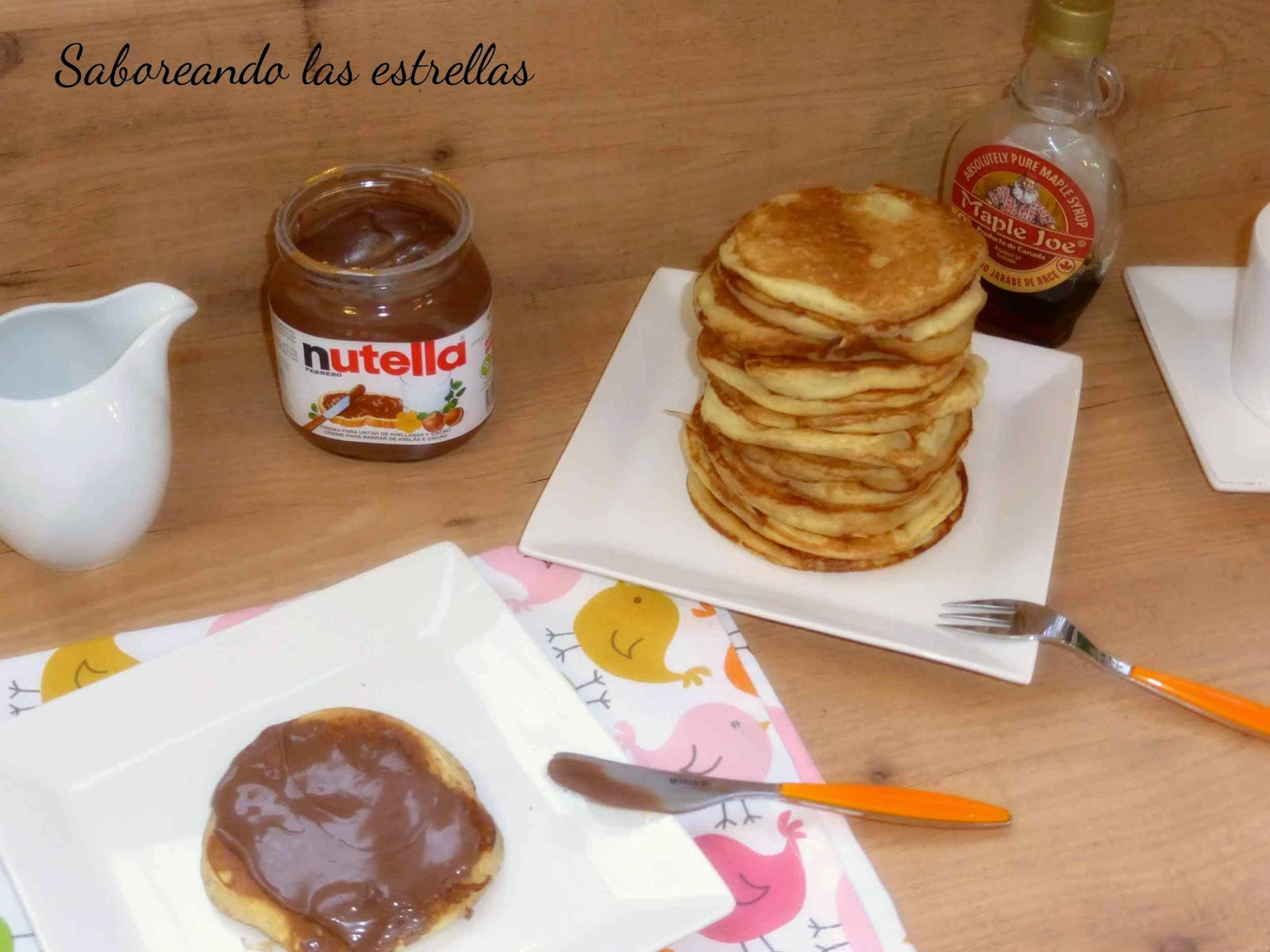 Tortitas de yogur con Nutella