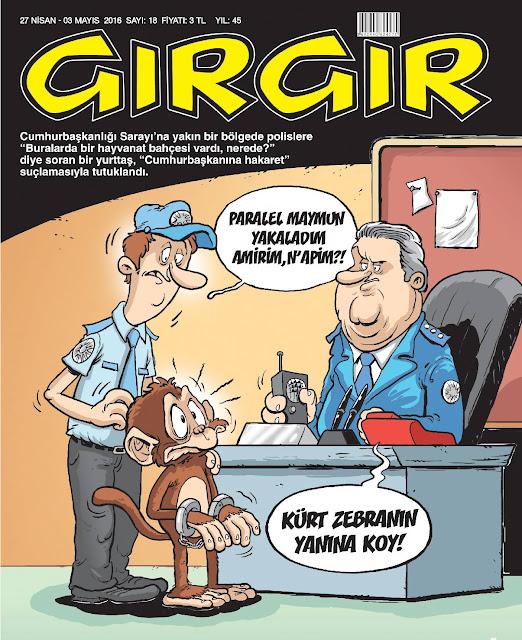 Gırgır Dergisi - 27 Nisan 2016 Kapak Karikatürü