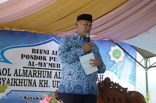 Bupati Hadiri  Haol Almarhum Almaghfurlah Syaikhuna KH. Udin Saefudin.