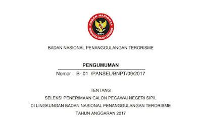 Contoh Surat Lamaran CPNS BNPT