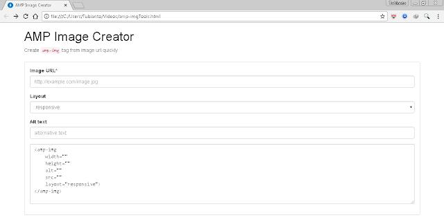 Membuat AMP Image Creator Menggunakan Framework Vue.js Untuk Blog/Website Valid AMP