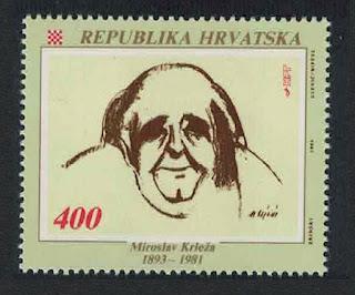 Miroslav Krleža, Croatian author, poet, and playwright