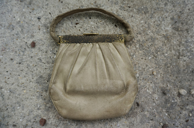 sac vintage en cuir leather handbag