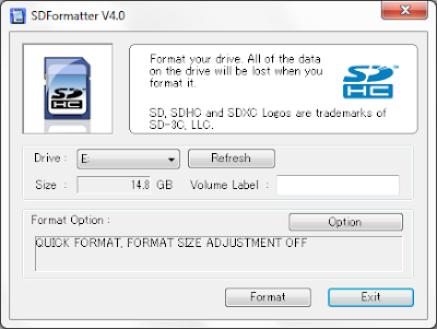 SD card formatter program