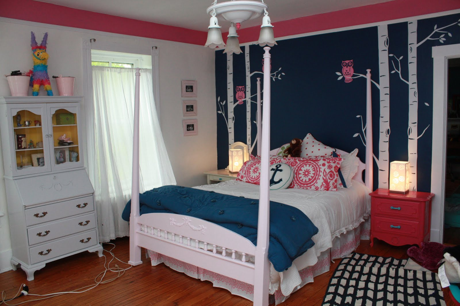 teen pink bedroom makeover the navy and pink teen bedroom 13495