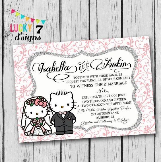 15 Contoh Desain Undangan Bertema Hello Kitty untuk ...