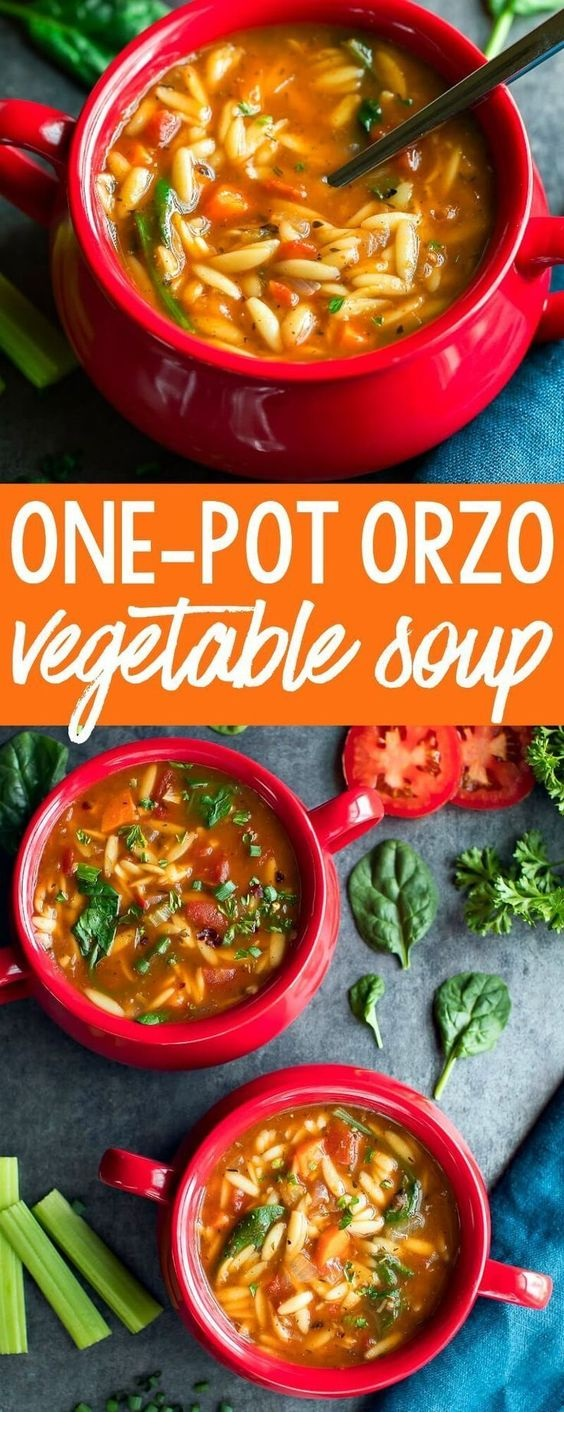 One-Pot Orzo Vegetable Soup
