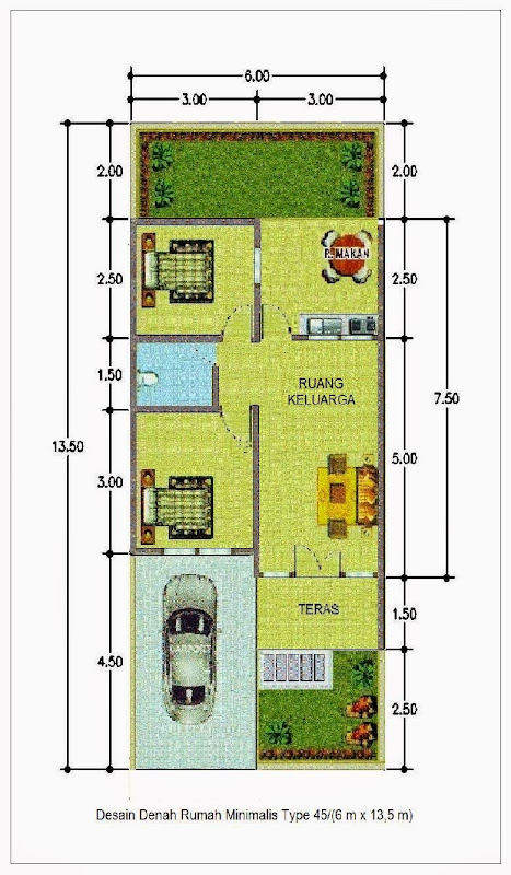 Desain Rumah Minimalis Ukuran 7x14  model rumah ukuran 7 x 10 model rumah terbaru model